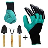 Meanch Genie Gloves with claws and extra 3 pc garden tools