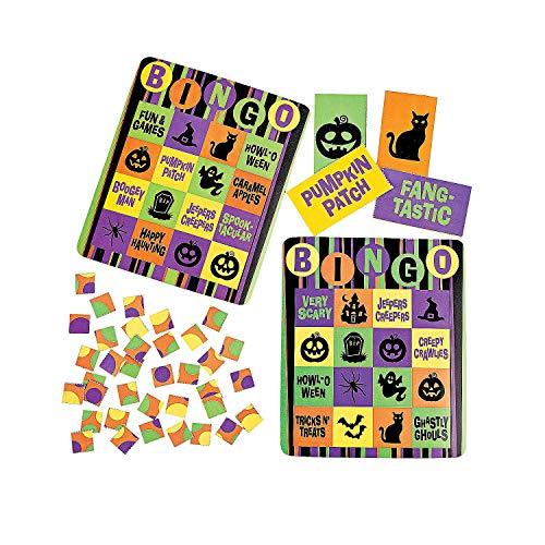 (Cardboard Iconic Halloween Bingo Set - 16)