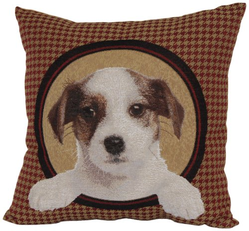 Brentwood 8238 Jack Russell Tapestry Pillow, - Tapestry Throw Jack Russell