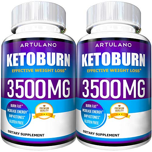 Keto Pills - 5X Potent (2-Pack | 3500MG) - Weight Loss Keto Burn Diet Pills - Boost Energy and Metabolism - Exogenous Keto BHB Supplement for Women and Men - Max Strength Formula Artulano