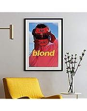 Blond Poster New Rap Music Star Art Poster, Frank Ocean Blond Rap Music Star Poster Print voor moderne slaapkamer Decor posters, frameloos
