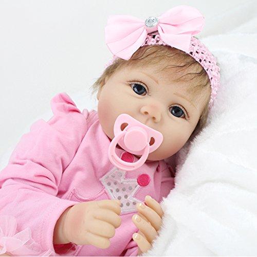 NPK 22inch 55CM Reborn bebé muñeca realista niños vinilo suave silicona realista baby doll Handmade Niños pequeños Juguetes niñas