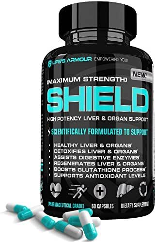 Liver, Kidney, Organ Support by Life's Armour | High Potency All Natural Liver, Kidney, Organ Support Supplement w/Milk Thistle Extract for Liver, Kidney, Organ Detox & Health