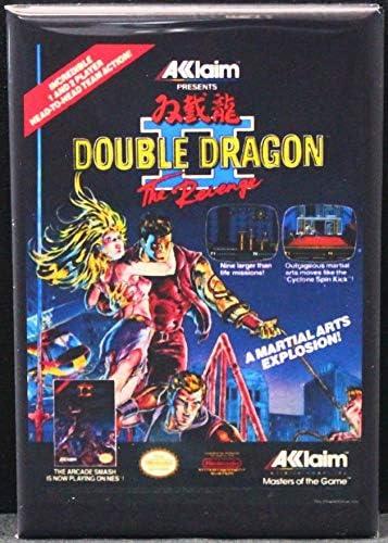 Amazon Com Double Dragon 2 Game Box Refrigerator Magnet Kitchen