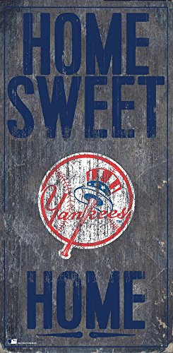 - Fan Creations New York Yankees 6x12 Home Sweet Home Wood Sign