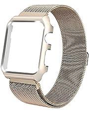 Pulseira Milanese case Para Apple Watch 40mm Aço Inox dourado