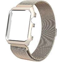 Pulseira Milanese case Para Apple Watch 44mm Aço Inox dourado