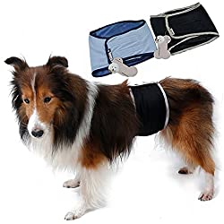 S-Lifeeling Washable Male Dog Diapers Sanitary Male Dog Protector Panties Large Pants Wrap