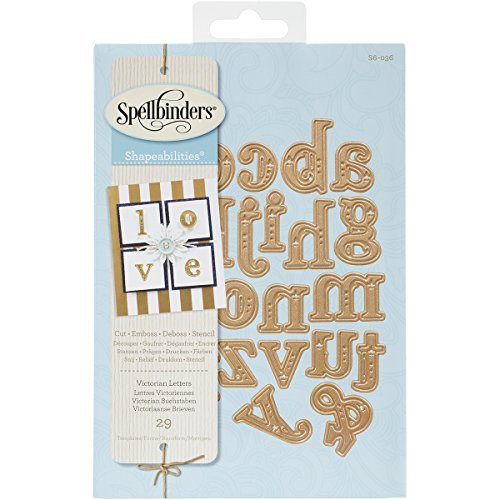 Spellbinders S6-036 Shapeabilities Victorian Letters Etched/Wafer Thin