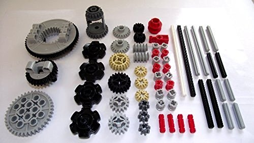 LEGO TECHNIC 60-Piece GEAR, Wheel, Axle and Stopper Pack Set bushing bush differential turntable motor part EV3 NXT