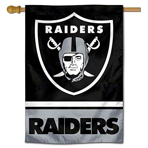Pole Nfl Flag - WinCraft Oakland Raiders Two Sided House Flag