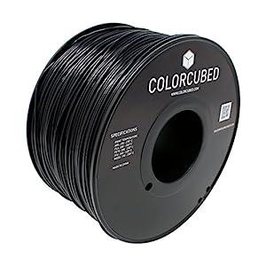 ColorCubed ABS Premium 3D Printer Filament 2LB Spool, 1.75mm, Black from ColorCubed