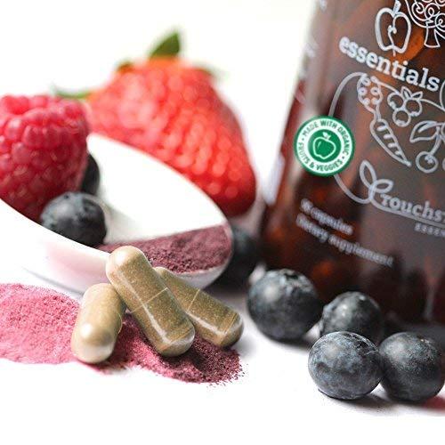 Essentials Vitaminas y Minerales de Alimentos Orgánicos Integrales - 26 Súper Alimentos Frutas y Vegetales Orgánicos para una Nutrición Completa + Enzimas ...