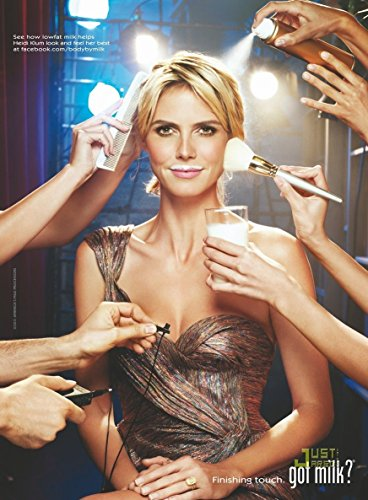 Print Ad** With Model Heidi Klum Finishing Touches 2011 Got Milk Print Ad**