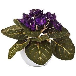 """Hallmark Violets Arrangement Potted Artificial Plant Decoration, 6"""" Decorative Accessories Animals & Nature 119"""