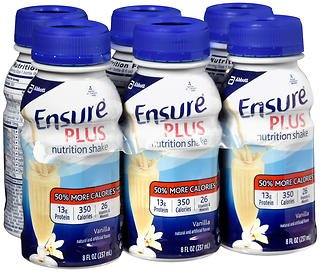 Ensure Plus Nutrition Shakes Vanilla, 24 - 8 oz, Pack of 3 by Ensure