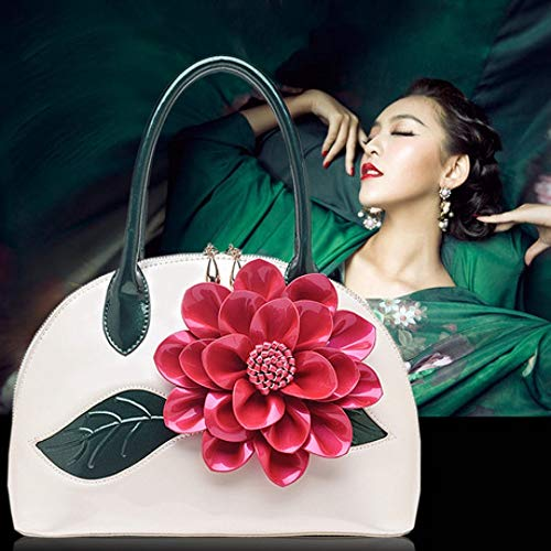Mano Flor A Nueva Mujeres Bolso Laca Moda De Mujer Bandolera Trompeta Señora Nacarada Xddq Shell Paquetes qvfSIww