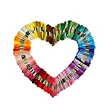 Lifespark Embroidery Floss Sewing Threads, 50 Skeins of 8M Embroidery Thread ...