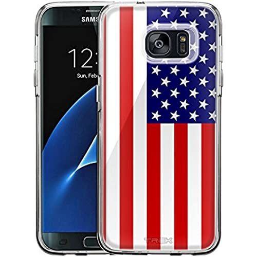 Samsung Galaxy S7 Edge Case, Snap On Cover by Trek American Flag One Piece Trans Case Sales