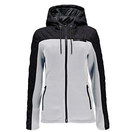 Spyder Womens Ardour Jacket, M, White (Microfiber Hybrid Jacket)
