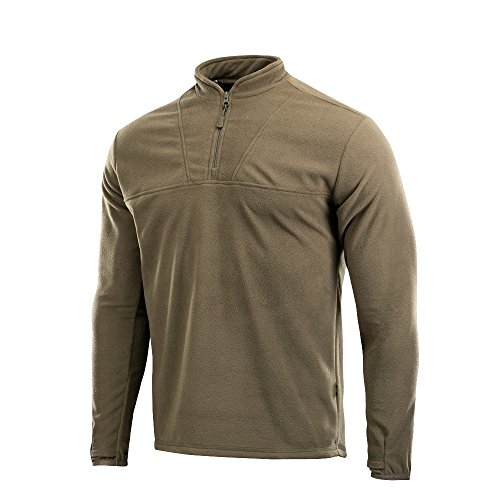 Delta Fleece Mens Top Thermal Underwear for Men Fleece Lined Compression Shirt (Olive Dark, XL) ()