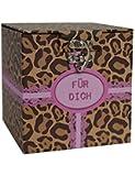 Überraschung in Geschenkverpackung braun rosa 12x12x12cm