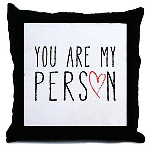 Scribble Heart - nuohaoshangmao You are my person with red scribble heart Throw Pi - Decor Pillow cover (18