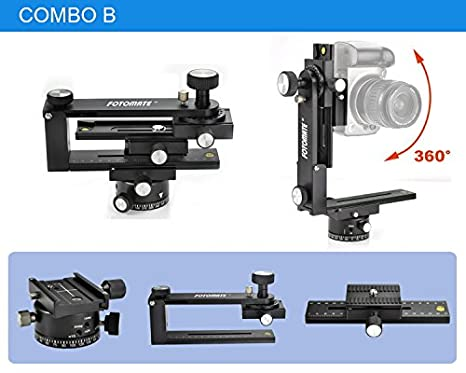 FOTOMATE® 360 grados Panorámica trípode cabeza Kit de ...
