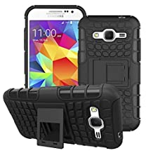 Samsung Galaxy Core Prime Case Cover -Lantier Tough Rugged Dual Layer Protective Case with Kickstand for Samsung Galaxy Core Prime G360 / Prevail LTE (2015 Release) Black