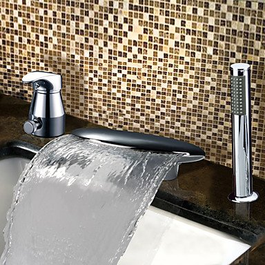 YAMEIJIA Bathtub Faucet - Contemporary Chrome Tub And Shower Ceramic Valve