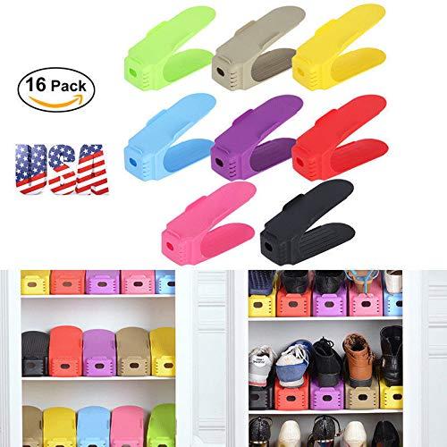 56c9fcc2c14d Amazon.com: DSA Trade Shop 16PCS Shoe Slots Space Saver Easy Shoes ...