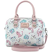 Loungefly Pastel Pink Pokemon Starters Pikachu Squirtle Crossbody Bag Purse