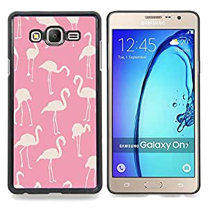 - pink flamingo pattern white bird Florida - - Modelo de la piel protectora de la cubierta del caso FOR Samsung Galaxy On7 G6000 RetroCandy