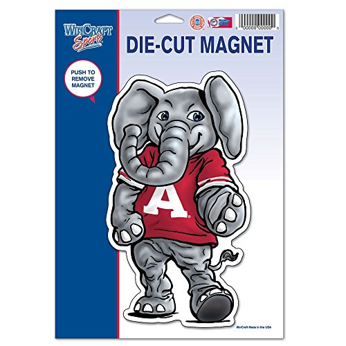 a, University of 67744011 University of Alabama Die Cut Logo Magnet, Small, Black ()