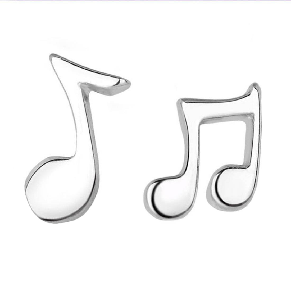 Coromose 1Pair Women Musical Notes Earrings Ear Stud Jewelry