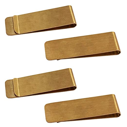 59d27e36696 Image Unavailable. Image not available for. Color: 4 Packs Copper Money  Clip, SourceTon Slim Wallet, Credit Card Holder ...
