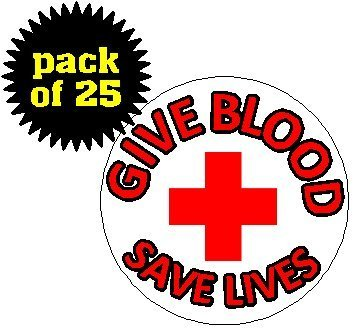 (Quantity 25) Give Blood - Save Lives 1. - Donor Pin Shopping Results