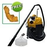 Matala Power Cyclone Pond Vacuum Continuous Pond Vac With Power Discharge With Gravel Head Attachment PLUS FREE Atlas Pond Gloves