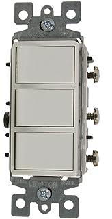 leviton 1755-2w 15 amp, 120 volt, individual switches, decora three rocker