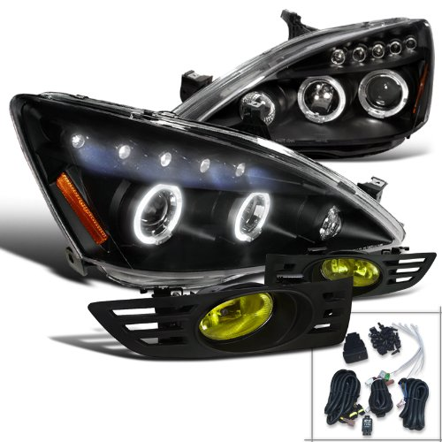 Accord Projector Headlights Yellow Bumper