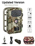 Game Trail Camera 1080P 12MP with Sound Scouting Camera with 2.4in LCD Screen No Glow Black Infrared...