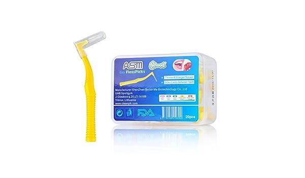 cleanpik Featured Slim cepillo 1,0 ~ 1,2 mm 40/2 bolsa verde cepillo de dientes adulto tetina cepillo de dientes: Amazon.es: Salud y cuidado personal