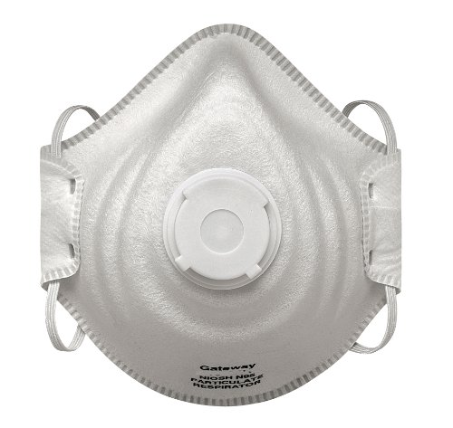 Gateway Safety 80104CV PeakFit Vented N95 OV Particulate Respirator (Box of 10) by Gateway Safety