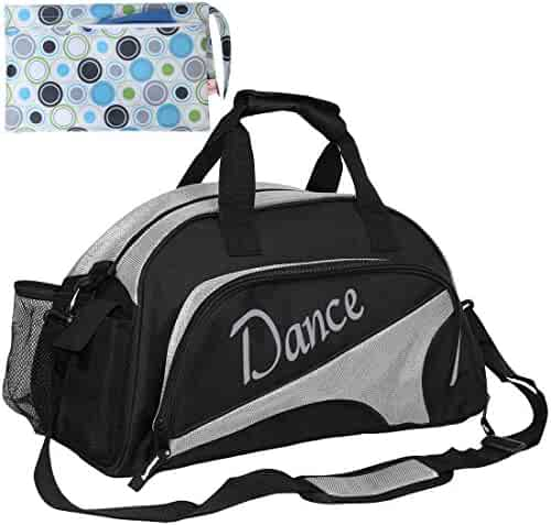 c2819e3669c1 kilofly Girl s Ballet Dance Sports Gym Duffel Bag Travel Carry On + Handy  Pouch