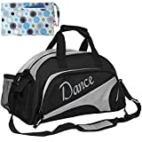 Cheap kilofly Girl's Ballet Dance Sports Gym Duffel Bag Travel Carry On + Handy Pouch