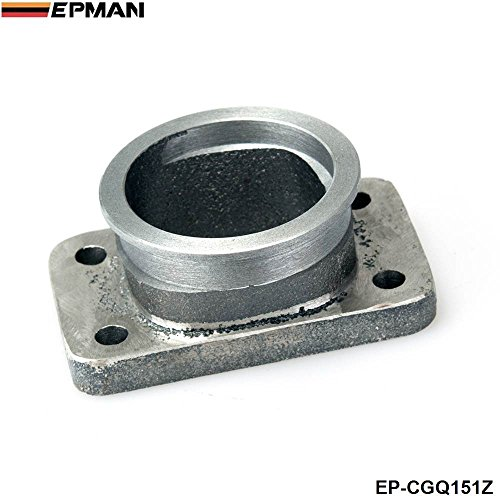 EPMAN 2.5''V-Band Adapter Flange For T3 4 Bolt Turbo Casting Iron V Band Adaptor For Toyota Acura Honda BMW (Downpipe Any Turbo Flange)