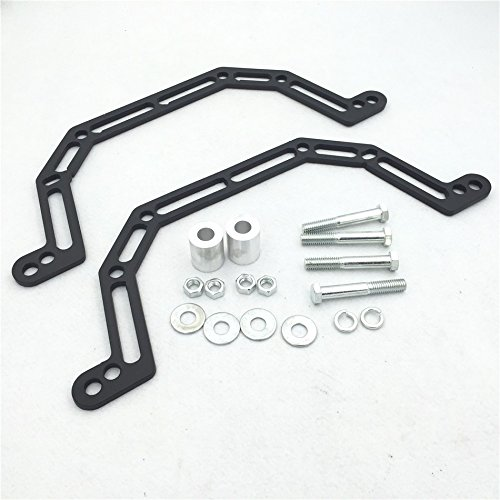 HTT Motorcycle Black 2003 2004 2005 2006 2007 Lowering Kit Lowers Front Suspension 4' and Widens by 2' Fit For Polaris Predator 500