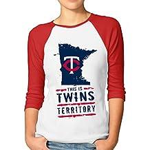Kim Lennon Minnesota Twin Women Essential Raglan T-shirt Red
