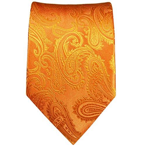 Cravate homme l'orange paisley 100% soie