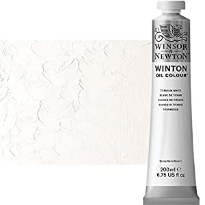 Winsor & Newton Winton Oil Colour Paint, 200ml tube, Titanium White